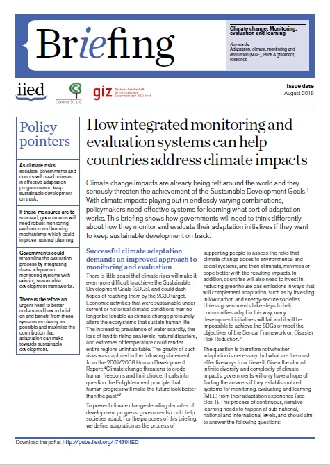 How integrated monitoring and evaluation systems can help countries