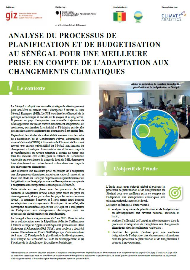 Factsheet NAP Align Senegal