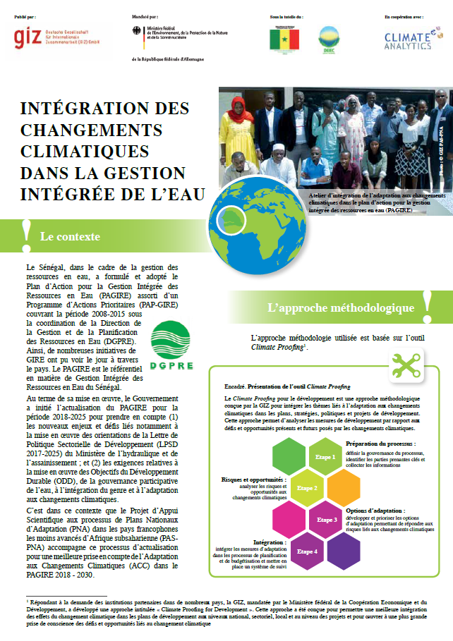 Factsheet PAGIRE Senegal