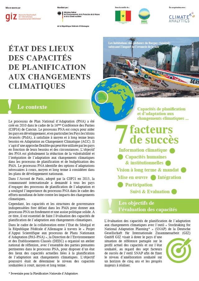 Factsheet SNAP Senegal