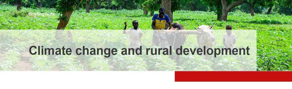 Factsheet Climate Change and rural development