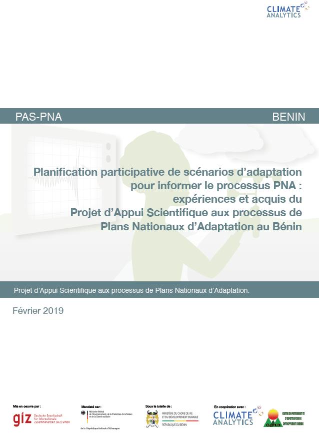 Planification scenarios d'adaptation Benin