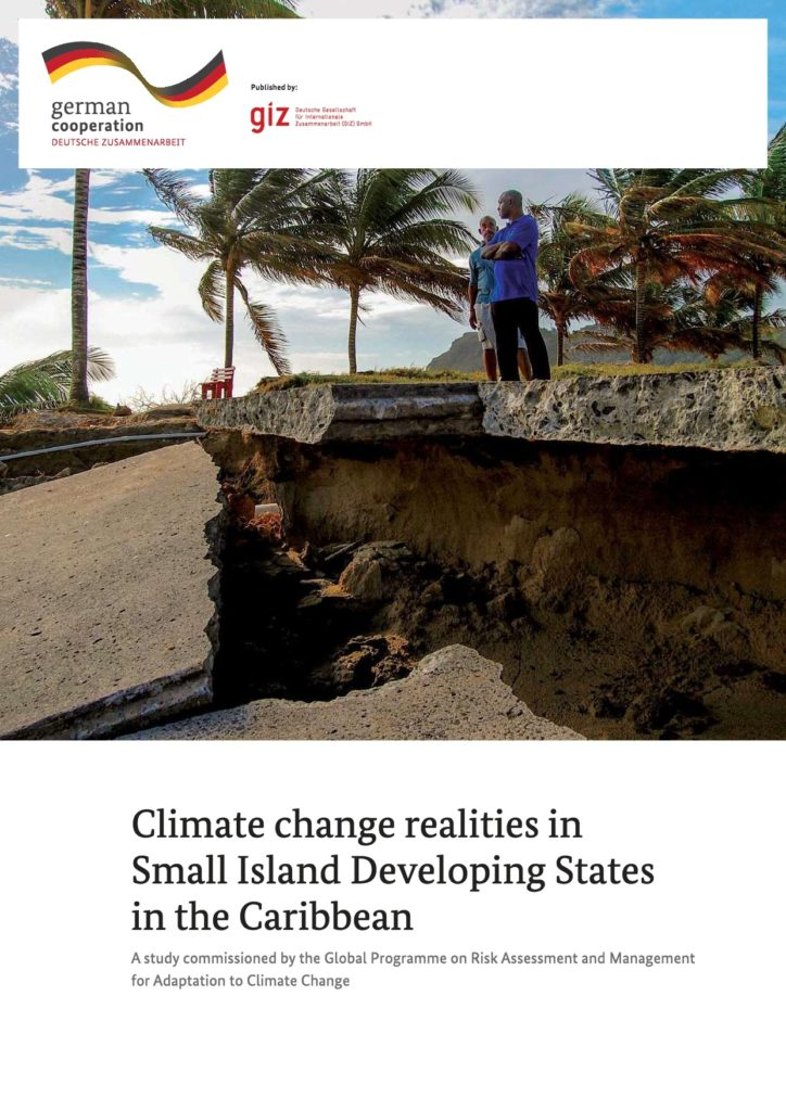Cover of publication Climate change realities in Small Island Developing States in the Caribbean
