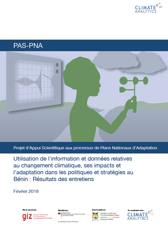 Utilisation information et donnees Benin