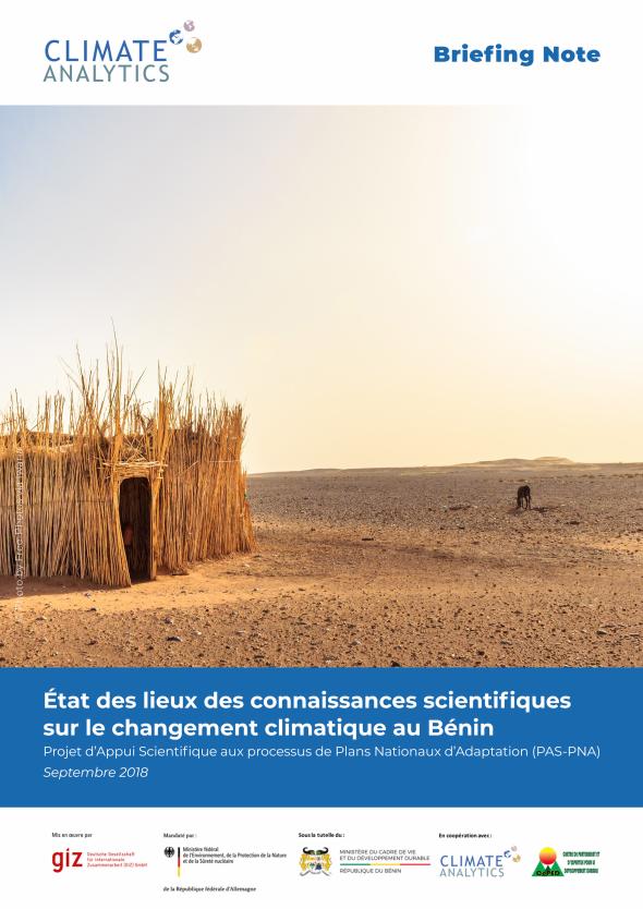 Briefing Etat des lieux connaissances scientifiques Benin
