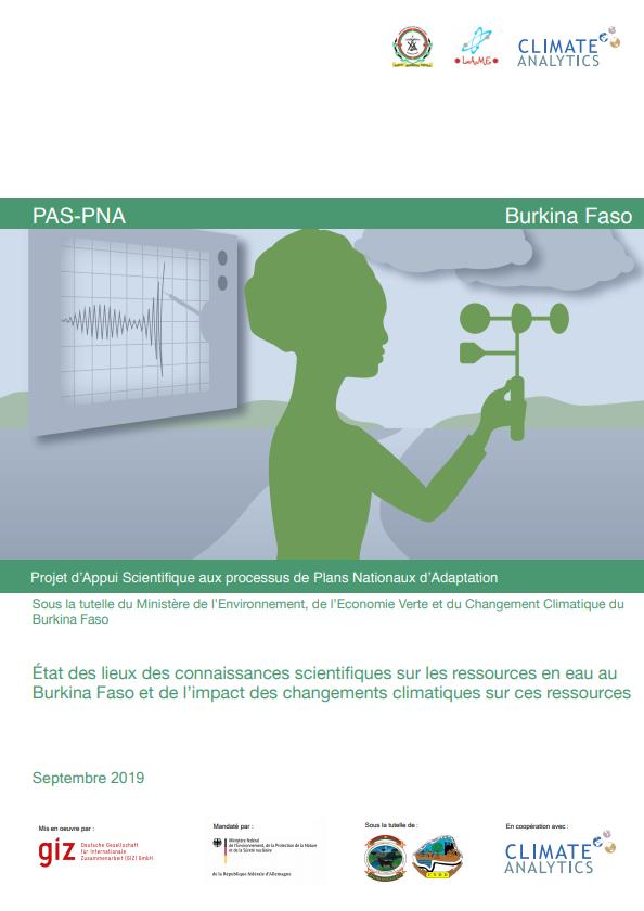 Etat des lieux connaissances scientifiques Ressources en Eau Burkina Faso
