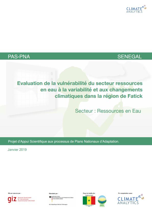 Etude de vulnerabilite Ressources en Eau Senegal