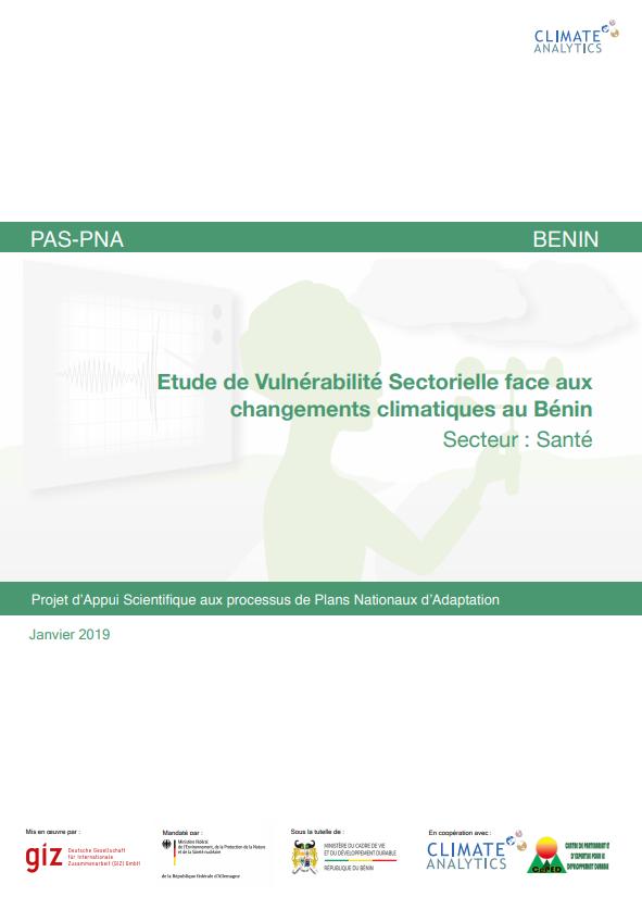 Etude de vulnerabilite Sante Benin