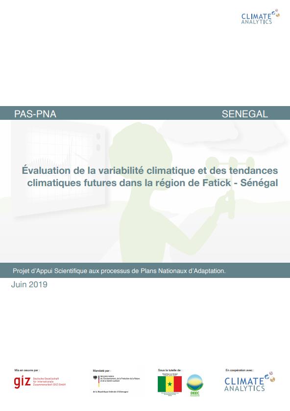 Evaluation variabilite climatiques Senegal