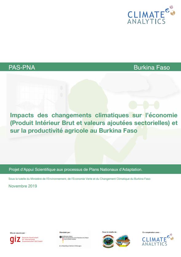 Impacts CC sur economie Burkina Faso